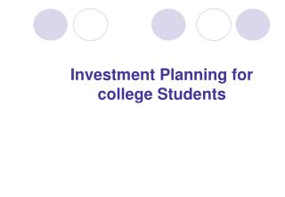 Investment Planning for college Students