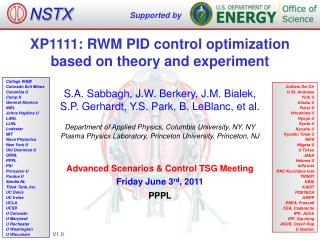 XP1111: RWM PID control optimization based on theory and experiment