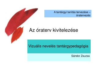 Vizuális nevelés tantárgypedagógia