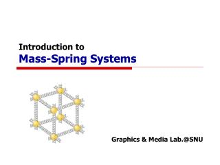 Introduction to Mass-Spring Systems