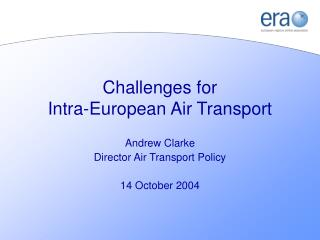 Challenges for Intra-European Air Transport