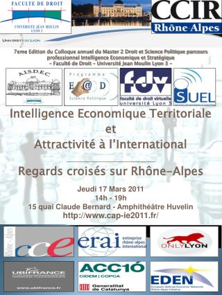 Intelligence Economique Territoriale et  Attractivité à l'International
