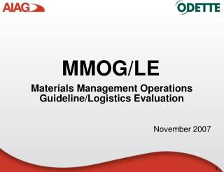 Materials Management Operations GuidelineLogistics Evaluation