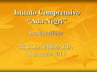 "Istituto Comprensivo  ""Ada Negri"""