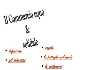 Il Commercio equo  &  solidale