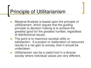 Principle of Utilitarianism
