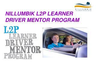 NILLUMBIK L2P LEARNER DRIVER MENTOR PROGRAM