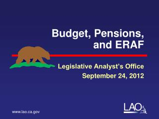 Budget, Pensions,  and ERAF