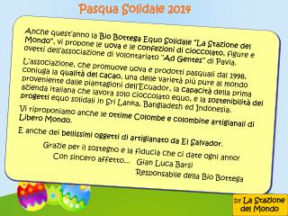 Pasqua Solidale 2014