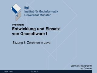 Sitzung 8: Zeichnen in Java