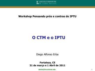 O CTM e o IPTU