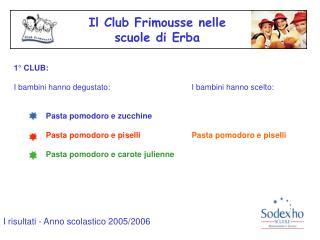 Il Club Frimousse nelle  scuole di Erba