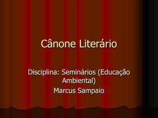 Cânone Literário