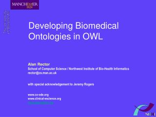 Developing Biomedical Ontologies in OWL