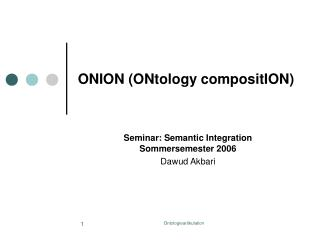 ONION (ONtology compositION)