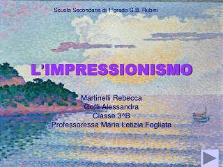 L ' IMPRESSIONISMO