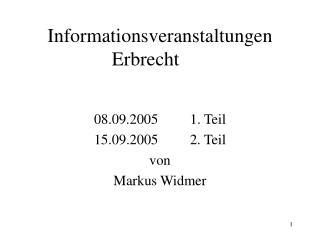 Informationsveranstaltungen Erbrecht