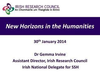 N ew Horizons in the Humanities