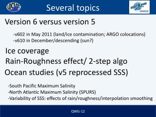 Ocean studies (v5 reprocessed SSS)