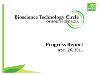 Progress Report April 26, 2011