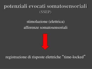 potenziali evocati  somatosensoriali (SSEP)