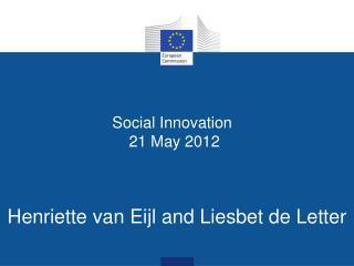 Social Innovation   21 May 2012