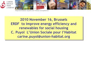 ERDF to improve energy efficiency and use of renewables for social housing