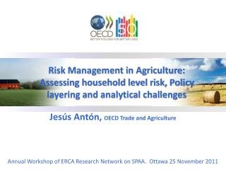 Jesús Antón,  OECD Trade and Agriculture