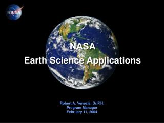 NASA  Earth Science Applications