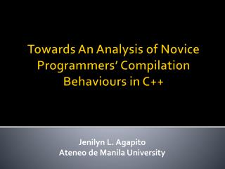 Towards An Analysis of Novice Programmers' Compilation Behaviours in C++