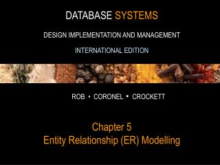 Chapter 5 Entity Relationship (ER) Modelling