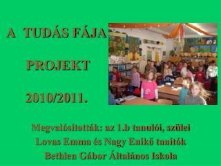 A  TUDÁS FÁJA  PROJEKT  2010/2011.