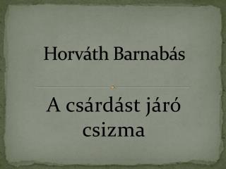 Horváth Barnabás