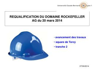 REQUALIFICATION DU DOMAINE ROCKEFELLER AG du 20 mars 2014