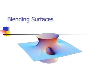 Blending Surfaces