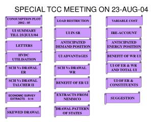SPECIAL TCC MEETING ON 23-AUG-04