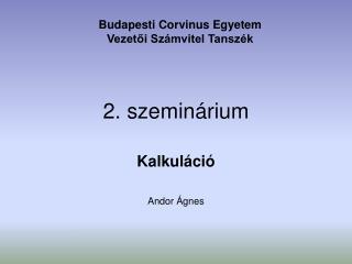 2. szeminárium