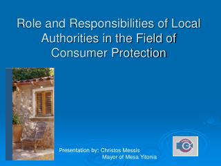 Role and Responsibilities of Local Authorities in the Field of Consumer Protection