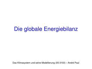Die globale Energiebilanz