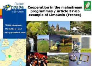Cooperation in the mainstream programmes / article 37-6b example of Limousin (France)