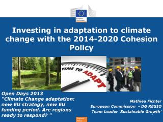 Investing  in adaptation to  climate  change  with  the 2014-2020  Cohesion  Policy