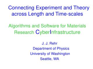 Connecting Experiment and Theory across Length and Time-scales   Algorithms and Software for Materials Research CyberInf