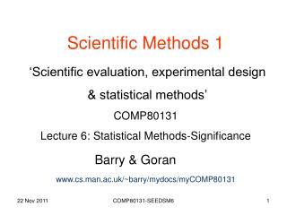 Scientific Methods 1