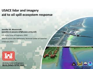 USACE lidar and imagery  aid to oil spill ecosystem response