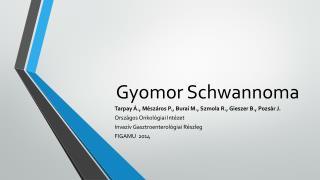 Gyomor  Schwannoma
