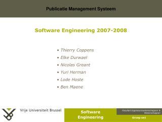 Software Engineering 2007-2008