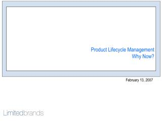 Product Lifecycle Management Why Now?