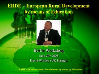 ERDE – European Rural Development by means of Education