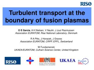 Turbulent transport at the boundary of fusion plasmas
