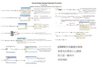 Sonnet Design Standard Operation Procedure
